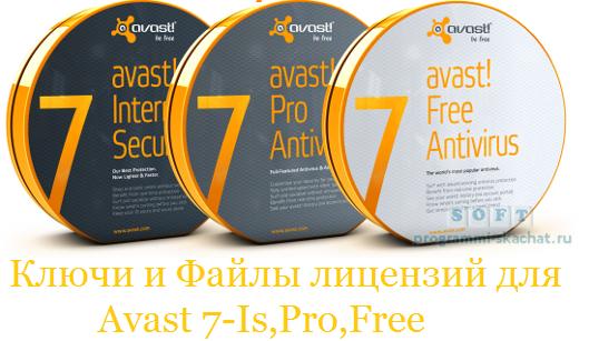 Скачать бесплатно самые новые Ключи для Аваст.